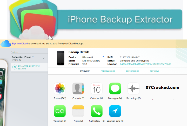 iPhone Backup Extractor Key