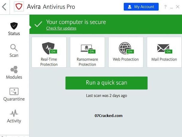 Avira Antivirus Key